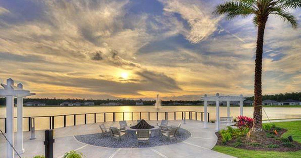 Mosaic Lake and Fire Pit Daytona Beach